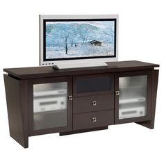 """Furnitech FT72TL - 70"""" Classic Modern entertainment console TV Stand for Plasma/DLP/LCD. - StandsOnline.com"""