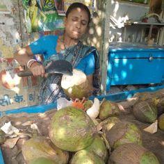 #Coconut Vendor in #Varanasi #Street #Food #India #ekPlate #ekplatecoconut