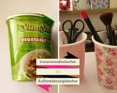 My.Life.Ink: Recycling DIY - Instantnoodlesbecher stylen
