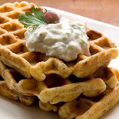 Zwiebelwaffeln - Onion Waffles