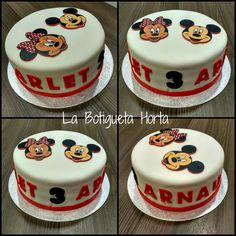 Pastel Mickey y Minnie Mouse