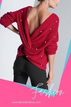 💥 PEARL TWIST BACK SWEATER There's no going wrong with pearls! You'll wow them all when you spin around and show off the darling pearl embellishments and bold twist detail that truly set this style apart. #Fashion #casualstyle #outfit #womenswear #womensclothing #clothing #clothes #shoppingonline #chic #apparel #shopping #sweater #fallfashion #sweaterweather #streetstyle