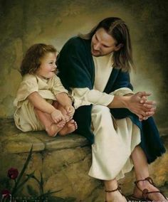 What a pleasant look on the child's face as she talks with Jesus. Makes me want to be there.