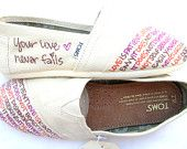 Items similar to The Skittles - Rainbow and Cream Custom TOMS on Etsy Cute Shoes, Me Too Shoes, Your Love Never Fails, Tiny Toms, Flattering Outfits, Jacob's Ladder, Fashion Essentials, Your Shoes, Fashion Advice