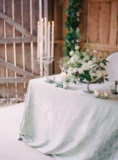Elegant tablescape | Melanie Gabrielle Photography | see more on: http://burnettsboards.com/2014/12/garden-gunmetal-wedding-inspiration/