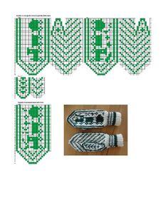 . Knitted Mittens Pattern, Knit Mittens, Knitted Gloves, Knitting Socks, Baby Knitting, Knitting Charts, Knitting Patterns, Chart Design, Wrist Warmers
