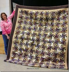 Star Struck in purples - Bonnie Hunter pattern