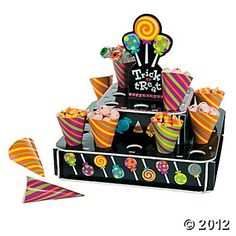 """Halloween """"Trick Or Treat"""" Stand With Cones"""