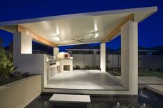 Cement Patio With Hot Tub patio interno coloridos. Pergola With Roof, Patio Roof, Pergola Patio, Small Pergola, Pergola Kits, Pergola Ideas, Pavers Patio, Rustic Pergola, Cement Patio