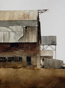 """After Years by Joseph Alleman Watercolor ~ 30"""" x 22"""""""
