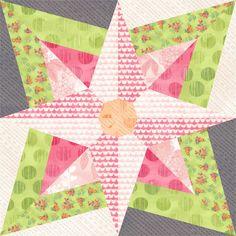 Look at the winning EQ7 block with Basic Grey's Fresh Cut fabric.  Block by Kerry.  Fantastic.  @modafabrics