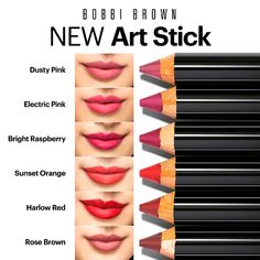 Bobbie Brown's makeup line has long been a hit, but its recent addition of the Art Stick is more than a hit Bobbi Brown Lipstick, Face Fillers, Brown Art, Spring Makeup, Makeup Swatches, Beautiful Lips, Tinted Moisturizer, Beauty Make Up, Lip Makeup