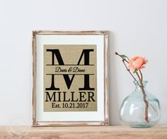 Personalized Wedding Gift BURLAP Personalized WEDDING by KNOTnNEST