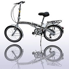 American Phoenix 20 Folding Bike 6 Speed Fold Storage Bicycle Silver >>> Find out more about the great product at the image link.