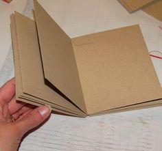album réalisé avec de enveloppes