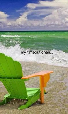 Beach - Time out chair Playa Beach, Ocean Beach, Beach Bum, Miami Beach, Beach Relax, Ocean Waves, Summer Beach, Time Out Chair, I Love The Beach
