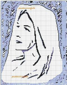 Blessed Mother, Mother And Baby, Filet Crochet, Madonna, Charts, Cross Stitch, Kids Rugs, Pattern, Cross Stitch Pictures