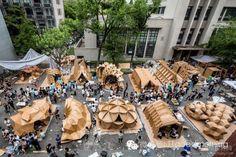 impresionantes estructuras de cartón