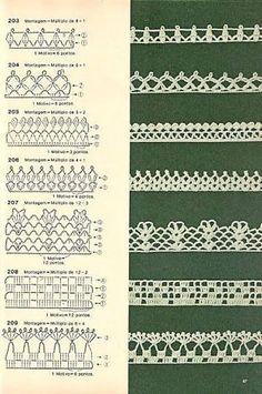 barrados de croche com flores com graficos - Поиск в Google