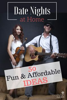 LOVE LOVE LOVE these ideas for fun date nights at home!