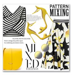 """""""Pattern Mixing"""" by christinacastro830 ❤ liked on Polyvore featuring Alice + Olivia, Casadei, The Cambridge Satchel Company and Matthew Williamson"""