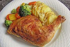 Gebackene Hähnchenkeulen auf Kartoffeln, ein beliebtes Rezept aus der Kategorie Braten. Bewertungen: 225. Durchschnitt: Ø 4,4.