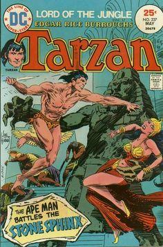 Joe Kubert cover art Tarzan 237 from 1975 Dc Comic Books, Comic Book Artists, Comic Book Covers, Comic Artist, Caricature, Robert E Howard, Tarzan Of The Apes, Joe Kubert, Film D'animation