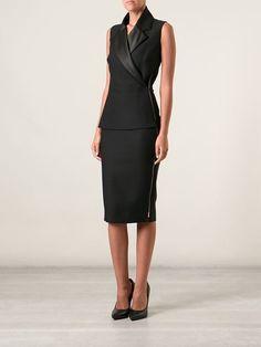 Victoria Beckham приталенное платье с лацканами Office Dresses fcd7a60ee08