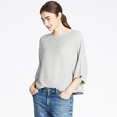 3ad57a180ea5b WOMEN RIBBED WIDE-SLEEVE SWEATER