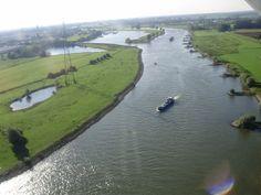 Vlucht boven de IJssel bij Zutphen