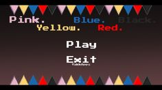 Pink. Yellow. Blue. Red. Black. by YakkApps