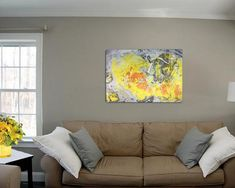 Abstract Painting Original Canvas Art Brown Grey White Painting Contemporary Abstract Modern Home Office Bedroom Interior Wall Decor Gifts Acrylic Paint Mediums, Acrylic Painting Canvas, Abstract Canvas, Canvas Art, Canvas Wall Decor, Contemporary Wall Art, Original Paintings, The Originals, Yellow
