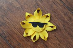 Summer Sun Hair Clip or pin by KidHearted on Etsy, $4.00