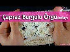 Çapraz Burgulu Örgü Modeli Nasıl Örülür? (kolay) - YouTube