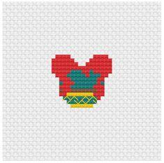 Disney Mouse Ears Merida Cross Stitch Pattern .PDF - Instant Download Cross Stitch Love, Cross Stitch Bookmarks, Beaded Cross Stitch, Pixel Art Templates, Perler Bead Templates, Disney Cross Stitch Patterns, Cross Stitch Designs, Disney Mouse Ears, Graph Paper Art