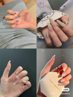 Nail Growth Tips, Green Nails, Nail Inspo, Cute Nails, Acrylic Nails, Beauty, Random, Black, Ongles