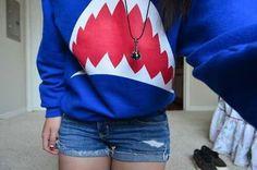 Shark sweater ♥ I need this!