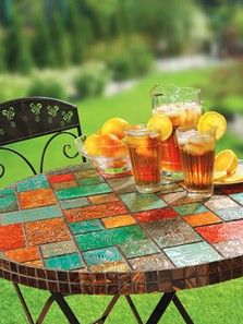 Embossed Metal Mosaic Table