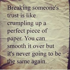 True but then given the actions and effort to try to regain that trust, that piece of paper could look like art. Who knows?
