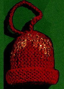 Christmas Bells Ornament knit pattern published in Crochet for Christmas, Star Book #83.