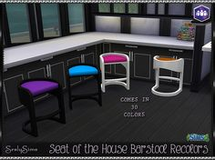 SrslySims | Seat of the House Bar Stool Recolors