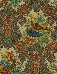 Home Decor Print Fabric-Pkaufmann Wilderness Royal