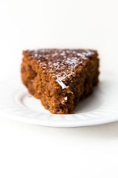 David Lebovitz's Ginger Cake, made with fresh ginger and dark molasses! By Broma Bakery