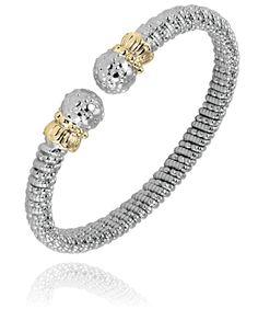6 mm bracelet in 14k gold and sterling silver. #VahanTwoTone #VahanPinterest