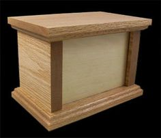 Oak Pet Urn  Photo Style  65 Cubic Inches by NelsonWoodWorks, $49.99
