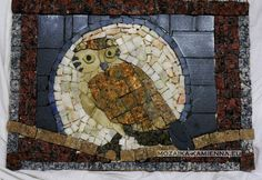stone mirror with owl2