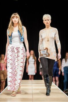 My garment on the left at Norwich Fashion Week.
