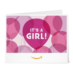 Amazon Gift Card  Print  Its a Girl Balloons -- Check out this great product.Note:It is affiliate link to Amazon.
