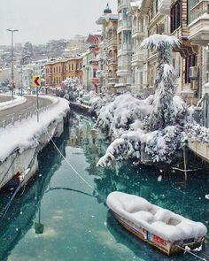 Istanbul Turquie (Istanbul, Turkey) with snow❄️c.
