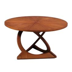 Round Teak Coffee Table by Søren Georg Jensen. Denmark. 1960's.  The son of world famous jewelry designer Georg Jensen, Søren Georg Jensen became a successful sculptor and silversmith producing many iconic works displayed in and around Copenhagen.